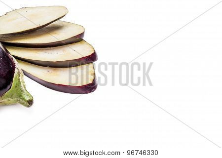 Aubergine On The Wihte Table
