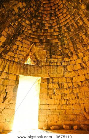 Inside Of The Tholos Tomb