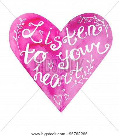 Listen To Your Heart Lettering