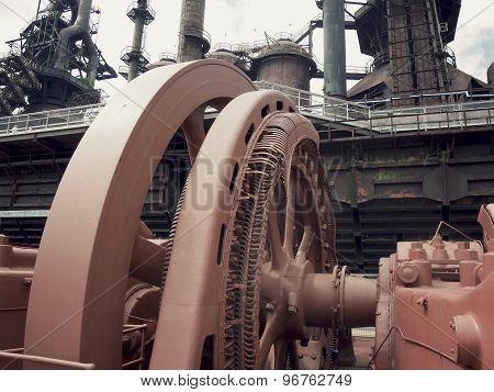 Abandoned Steel Mill Flywheel