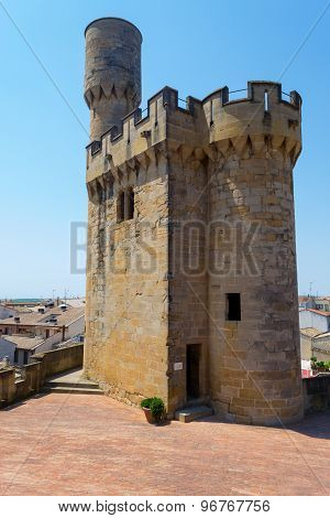 Defence Tower In Olite