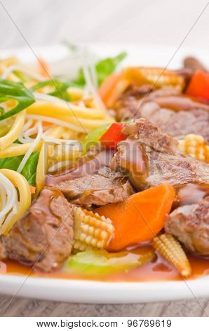 South Chinese Hongkong Cantonese Beef with Noodles poster