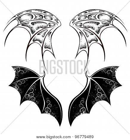 Black Dragon Wings