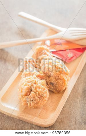 Fast Food With Fried Chicken On A Plate