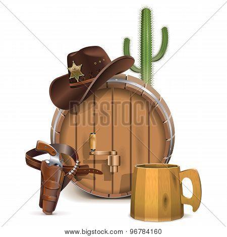 Vector Cowboy Bar Concept