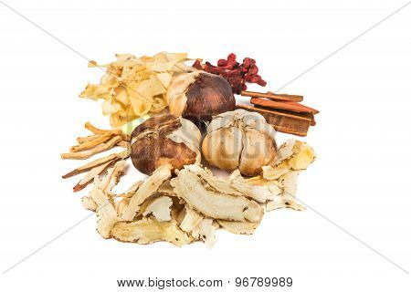 Herbal ingredients for Bak Kut Teh dish, a Malaysian delicacy