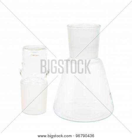Empty Erlenmeyer flask isolated