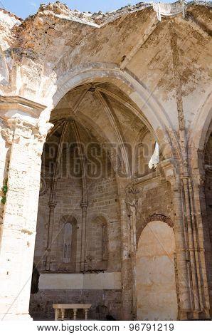 Courtyard Of The Famous Monasterio De Piedra
