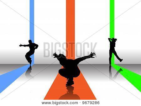 3 break dancers
