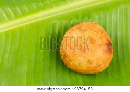 Kuih Cucur Badak, a traditional Malay delicacy