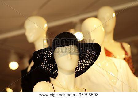 White Mannequin In Hat