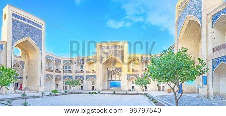 The madrassah courtyard