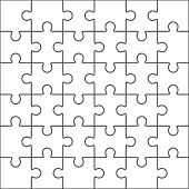 jigsaw puzzle blank template 5x6 vector photo bigstock