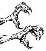 An illustration of eagle or monster animal claws or talons poster