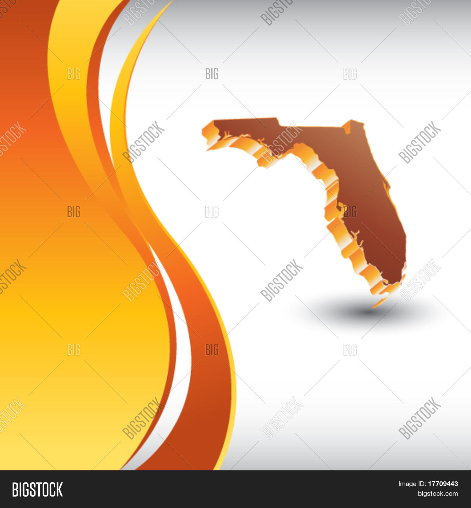 Florida State Shape Vector & Photo (Free Trial) | Bigstock