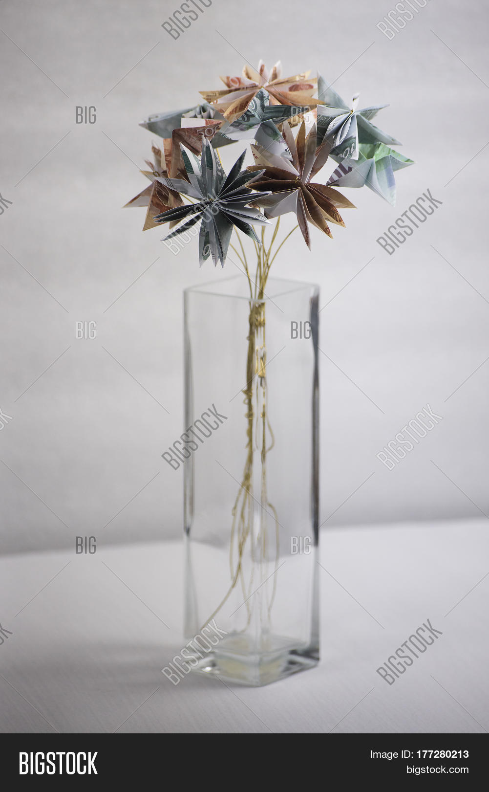 Bouquet Origami Image Photo Free Trial Bigstock