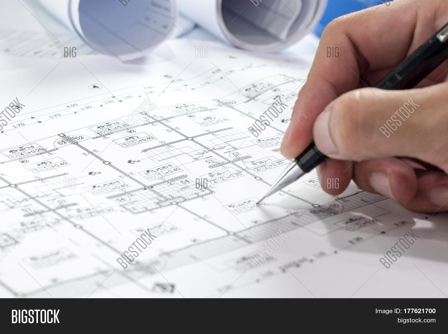Engineering diagram blueprint paper image photo bigstock engineering diagram blueprint paper drafting project sketch architecturalselective focus malvernweather Choice Image