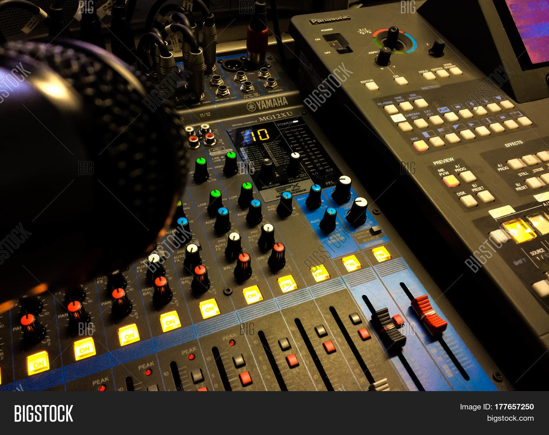 Stage Lighting Control Image Photo