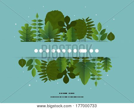 Forestry Day 21St March Banner Design With Leaf. Vector Illustration.
