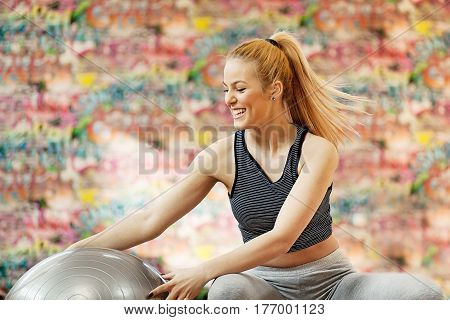 Young Woman Doing Pilates