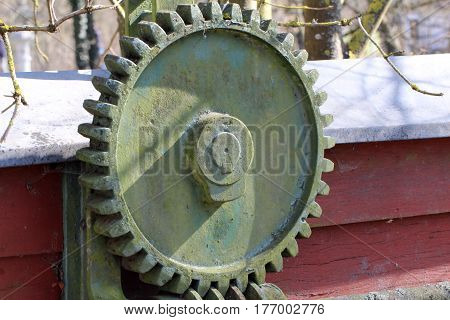 Worm-gear /  Mechanical parts: gear, worm .