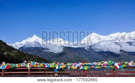 Meili Snow Mountain In Yunnan, China
