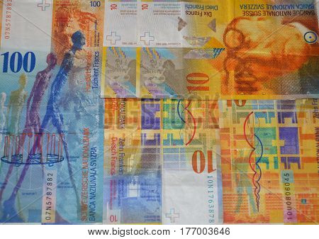 Money, cash, background, Swiss Franc money background, Swiss money