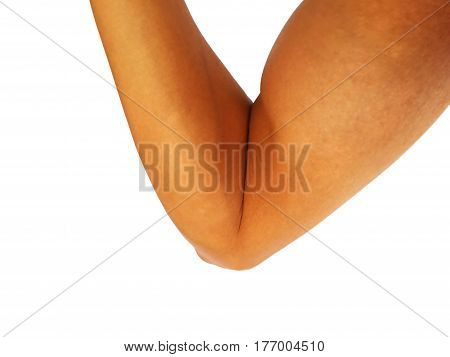 asian man show hand gesture that strong