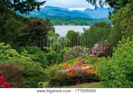 beautiful view of lake disctrict in UK