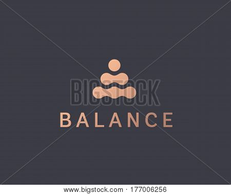 Abstract balance vector logo design template. Spa harmony minimal logotype