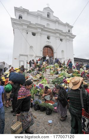 Church Of Santo Tomas At Chichicastenango