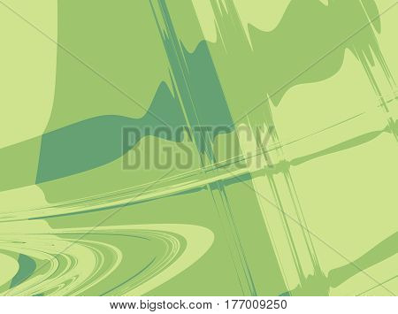 Abstract fractal background in shades of green with random curves symbolizing motion speed sound music or city life/street art. For artistic projects skins CD covers templates layouts etc.