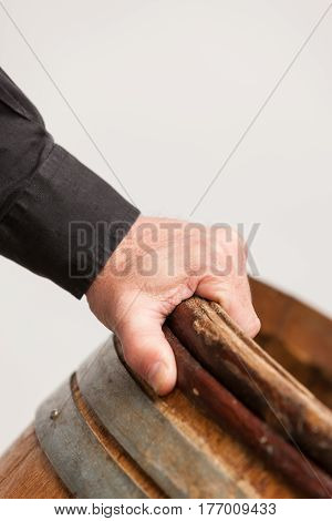 Male Hand Holding Barrel
