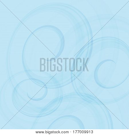 Swirling blue backdrop. Abstract vector illustration for presentation