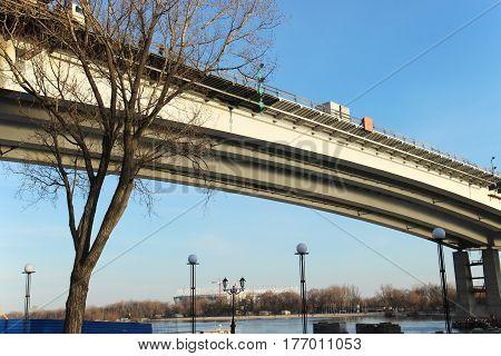 Brige. Concrete Bridge Voroshilov Across The Don River