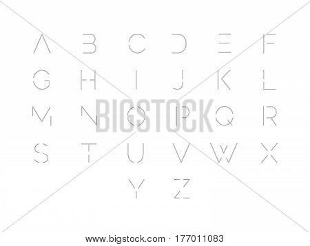 Font. Typographic alphabet with vibrant gradient. Modern futuristic typeface.