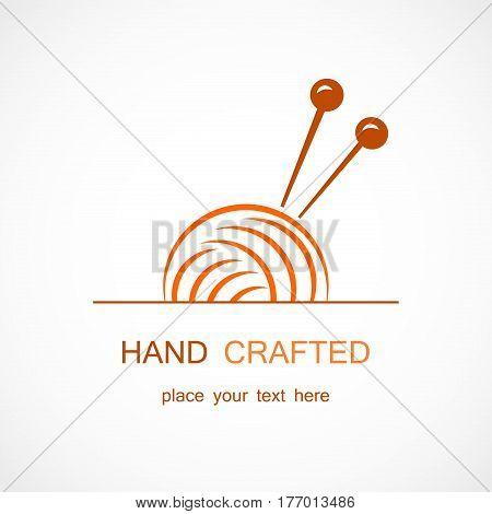 Vector illustration of a Knitting Vector Symbol