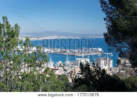 Palma View With Trasmediterranea Ferry Tenacia