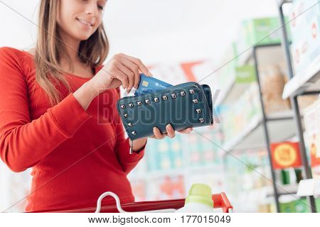 Woman At The Checkout