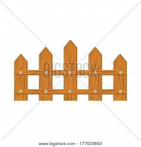 Wooden fence on white background isolated on white background