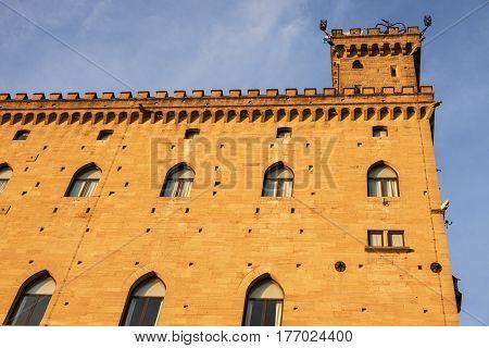 City of San Marino town hall - Palazzo Pubblico. San Marino.