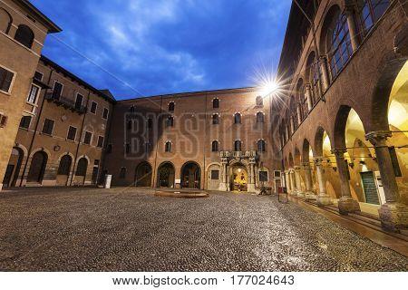 Architecture of Verona at night. Verona Veneto Italy
