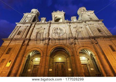 Las Palmas Cathedral of Santa Ana. Las Palmas Gran Canaria Canary Islands Spain.