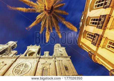 Las Palmas Cathedral of Santa Ana. Las Palmas Gran Canaria Canary Islands Spain