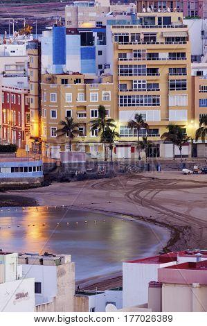 Beach in Las Palmas. Las Palmas Gran Canaria Spain.