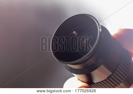 Telescope Eyepiece With Rubber Eyecup, Hand Hold