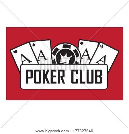 Poker club and casino vector sign set. Emblem casino gambling casino