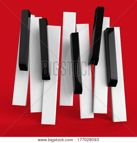 Jazz music festival, poster background template. Music piano keyboard. Can be used as poster element or icon.  illustration.