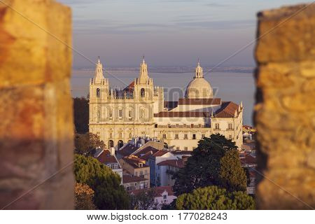 Sao Vicente de Fora Monastery and National Pantheon in Lisbon. Lisbon Portugal.