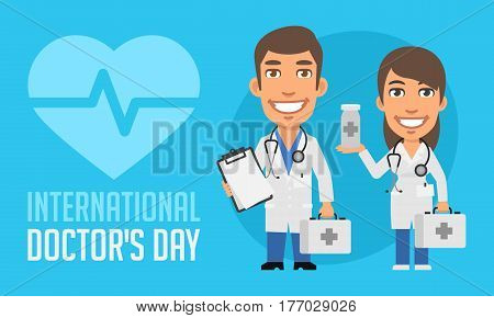 International Doctors Day Man And Woman Doctors